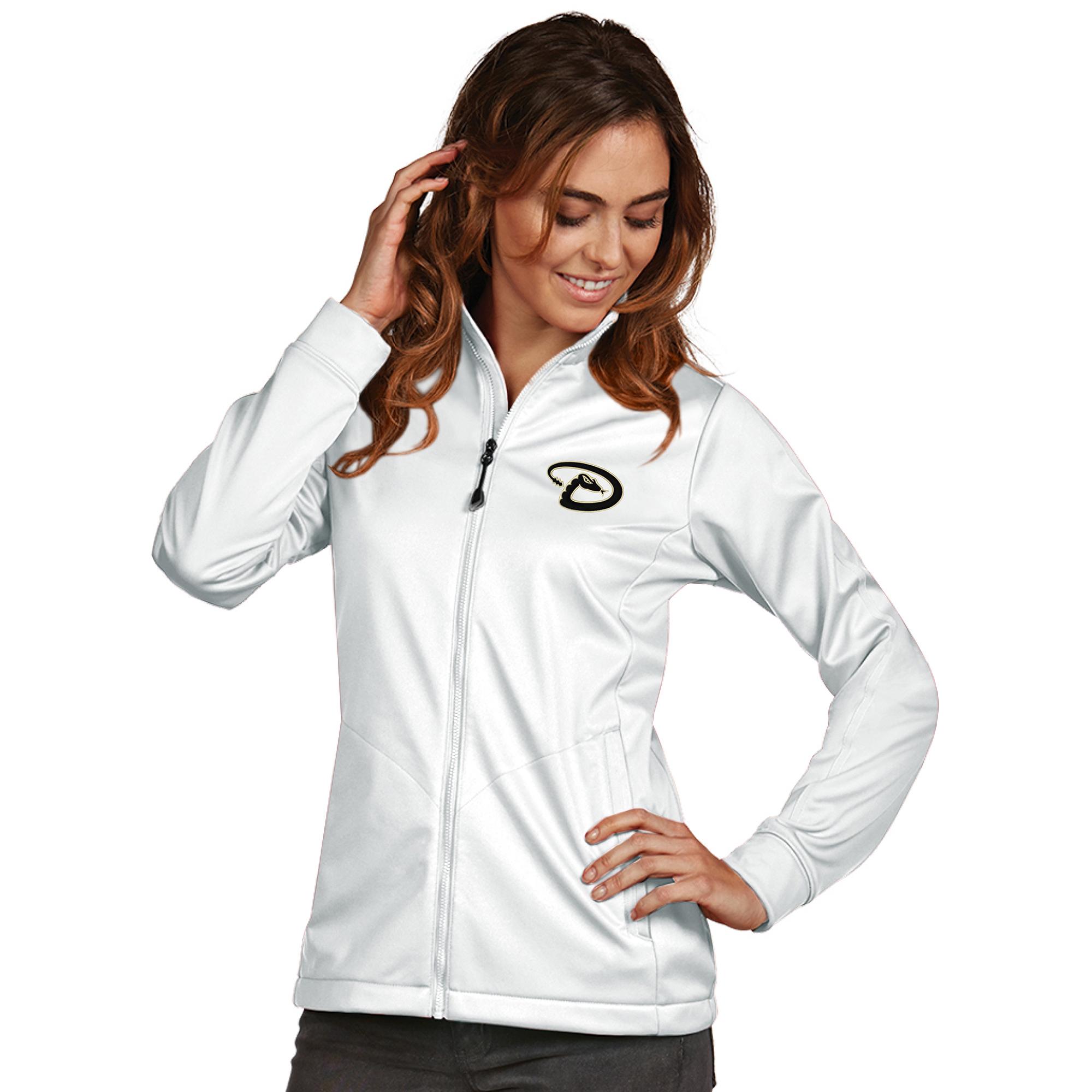Arizona Diamondbacks Antigua Women's Golf Full-Zip Jacket - White