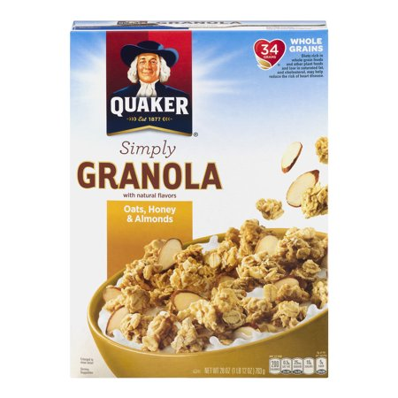 Quaker Simply Granola Oats  Honey   Almonds  28 0 Oz