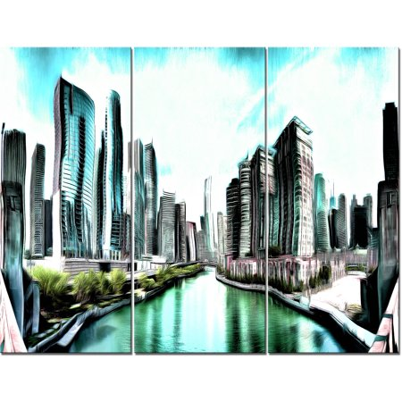 Design Art On the Chicago River, 3 Pieces, 36