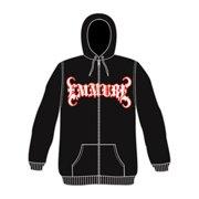 Emmure Men's  Zippered Hooded Sweatshirt Black