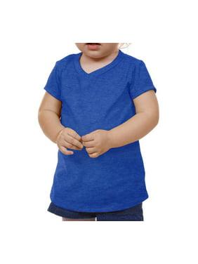 Kavio IJP0576 Infants V Neck Short Sleeve-Ht.Cobalt Blue-24M