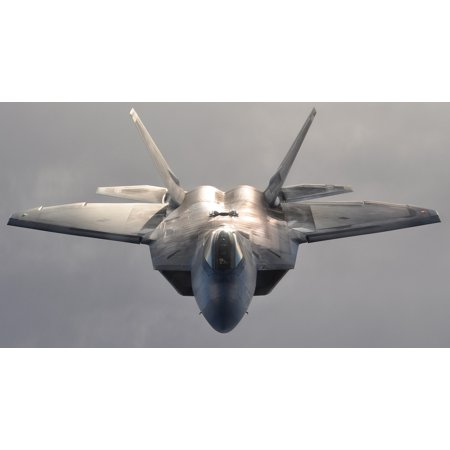 LAMINATED POSTER Flying Military Jet F-22 Fighter Flight Airplane Poster Print 24 x 36 - Jets Flying