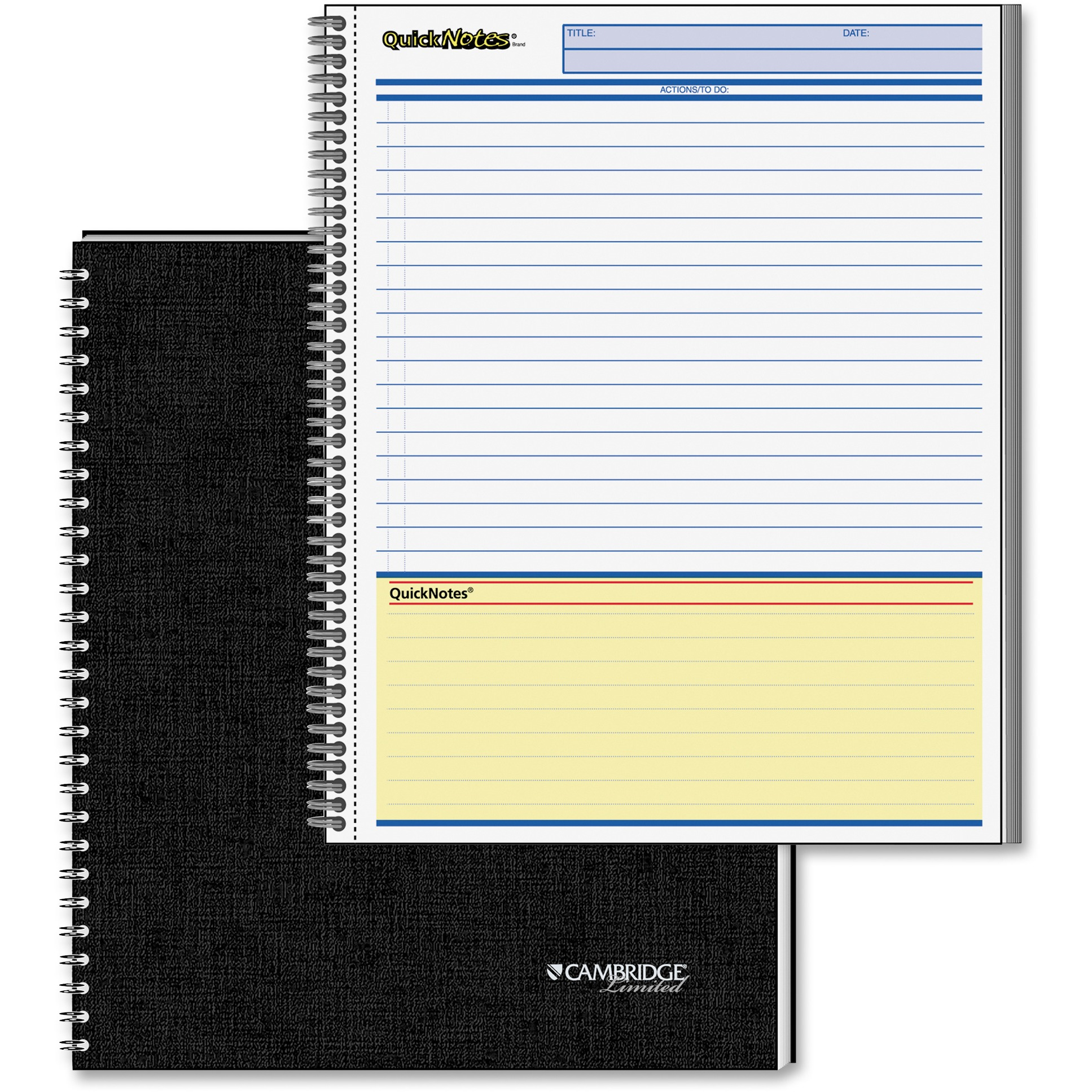 Mead, MEA06066, QuickNotes Professional Planner Notebook, 1 Each, Assorted