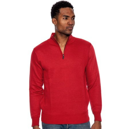 - True Rock Men's Super Quarter Zip Mock Sweater