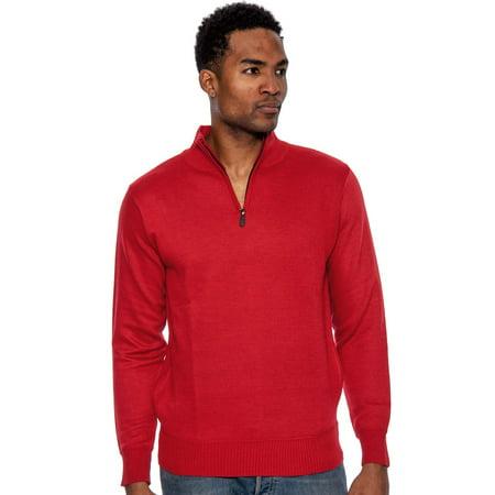 True Rock Men's Super Quarter Zip Mock Sweater