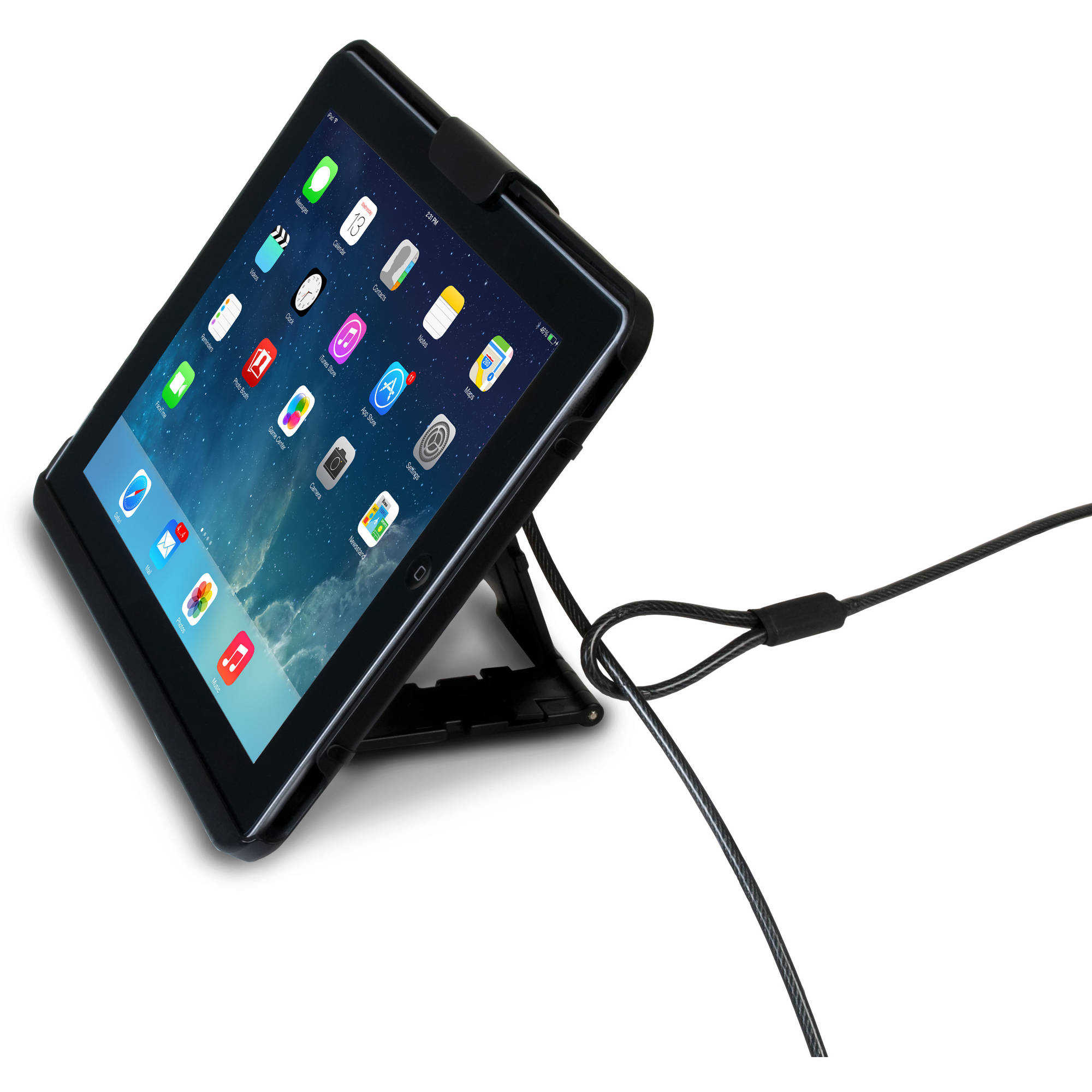CTA Digital PAD-ATC iPad / iPad Air / iPad Air 2 Anti-Theft Case with Built-In Stand