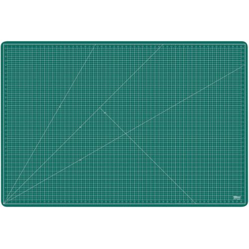 "40"" x 60"" GREEN/BLACK Self Healing 5-Ply Double Sided Durable PVC Cutting Mat"
