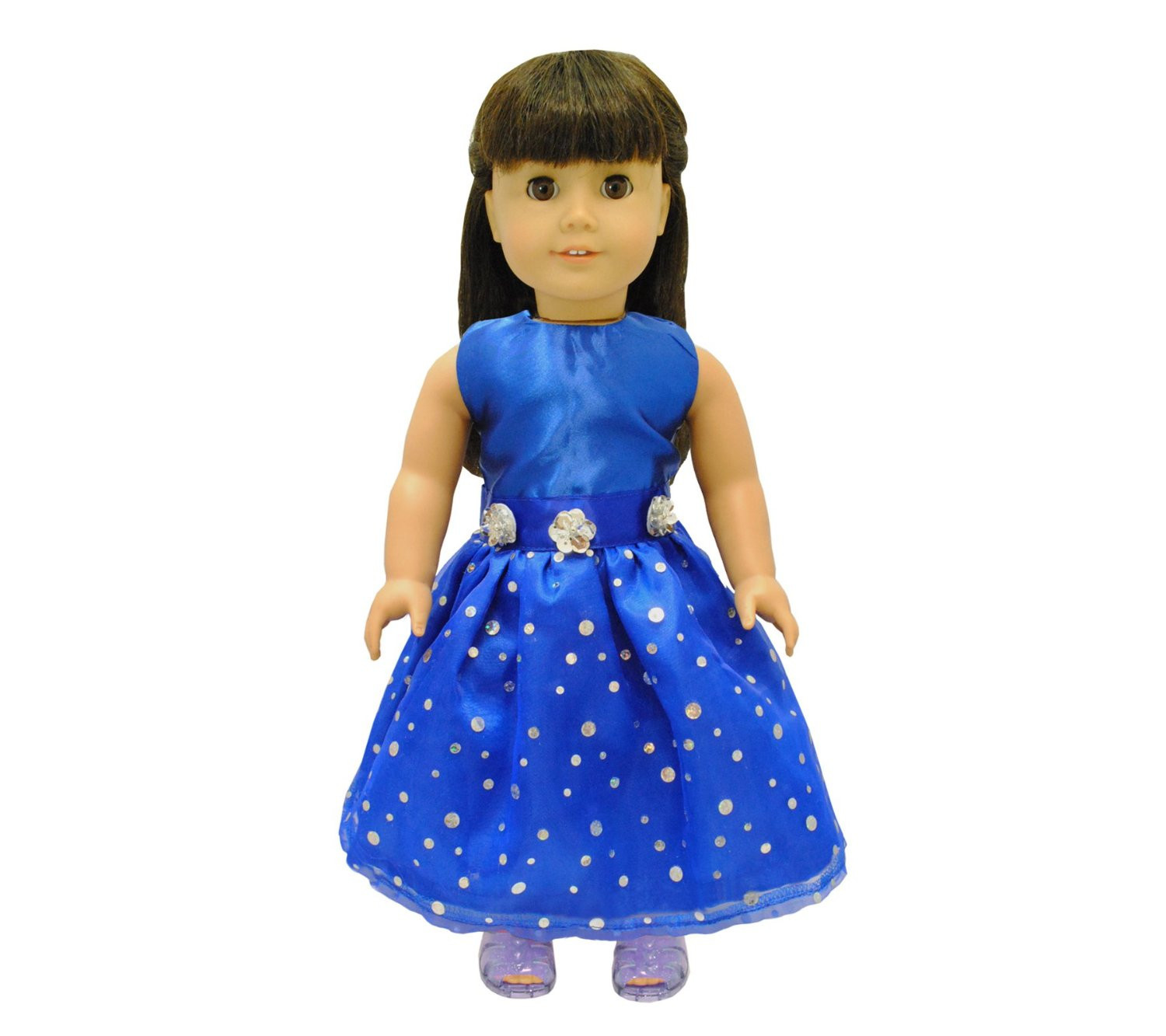 Beautiful Blue Princess Dress Outfit Doll Clothes Accessories Fits American Girl My... by