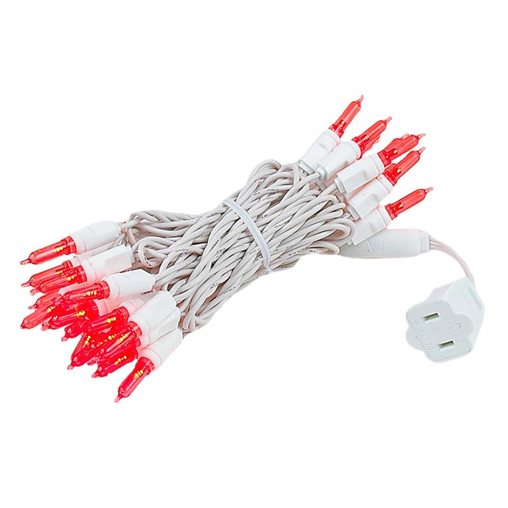 Novelty Lights 35 Light T5 LED Christmas Mini Light Set, Outdoor Lighting Party Patio String Lights, White Wire, 11.5' Long