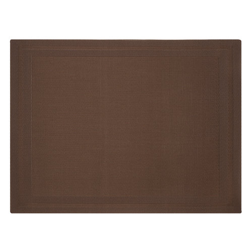 Canopy Double Border Placemat, Chocolate Chip