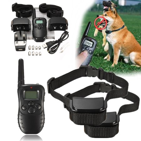 2 Dog Electric Anti Barking Training Collar For 2 Dogs