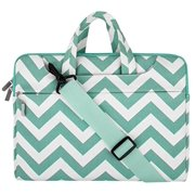 MacBook Shoulder Bag Briefcase, Canvas Fabric Carry Case Sleeve Cover Only for New MacBook 12 Inch with Retina Display, Chevron Hot Blue