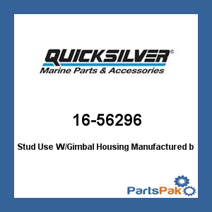Mercury - Mercruiser 16-56296 Mercury Quicksilver 16-56296 Stud Use W/Gimbal Housing- ()