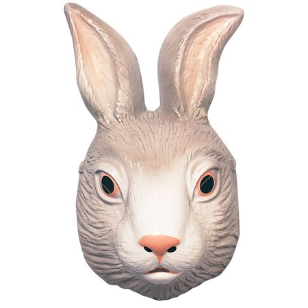 Childs Child Plastic Animal White Bunny Rabbit Easter Mask Costume Accessory - Rabbit Half Mask