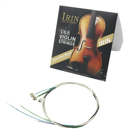 Universal Full Set (E-A-D-G) Violin Fiddle String Strings Steel Core Nickel-silver Wound with Nickel-plated Ball End for 4/4 3/4 1/2 1/4