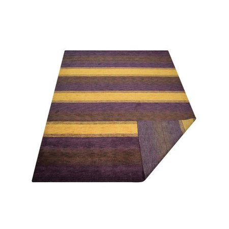 Millwood Pines St Catherine Hand Woven Wool Purple Brown Area Rug