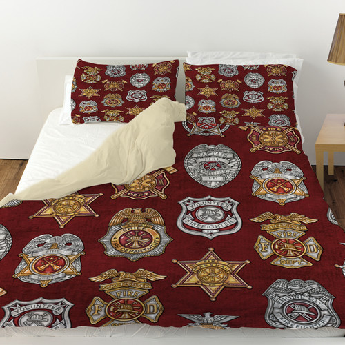 Manual Woodworkers & Weavers Firefighter Badges Duvet Cover