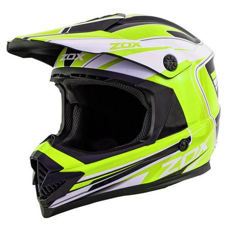 ZOX RUSH LUCID - ADULT Street Motocross Dirt Off-Road Motorcycle Helmet - Yellow - Large - image 3 de 3