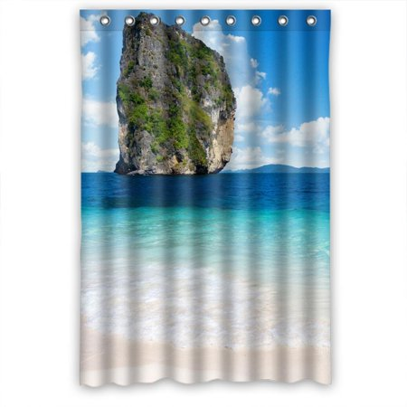 Ganma Giant Rock Shower Curtain Polyester Fabric Bathroom 48x72 Inches