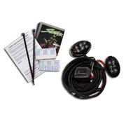 Street FX 1042520  1042520; Oval Light Kit Black With Purple Led