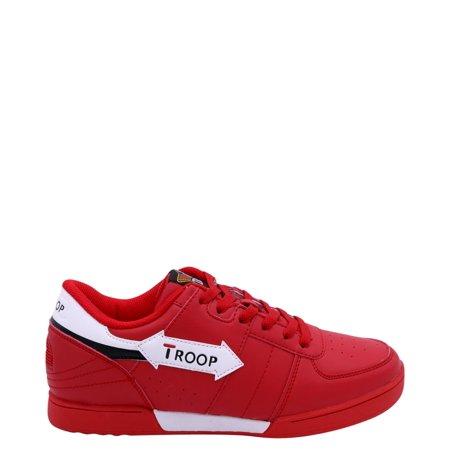 Open Court Shoe (Troop 1CM00075-602 : Crown Court Sneakers Red )