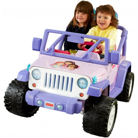 Fisher Price Power Wheels Dora And Friends Jeep Wrangler 12 Volt Battery Powered Ride On