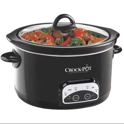 CROCK POT SCCPRP501-B-A Slow Cooker, Programmable, 5 qt., 120V
