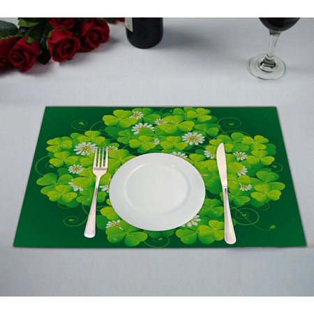 GCKG Happy St.Patrick's Day Placemat 12x18 inches Set of 2 ()