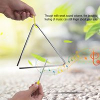 YLSHRF Triangle Beater, Instrument Triangle,Children Music Enlightenment Musical Percussion Instrument Steel Triangle with Striker
