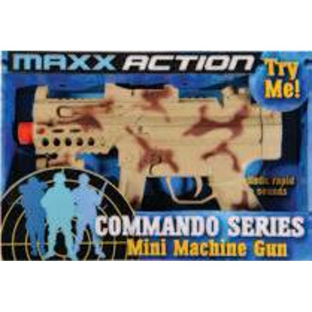 Maxx Action 11.5 Toy Mini Machine Gun with Electronic Sound, Lights, and Vibration - Camo - Toy Gun With Sound