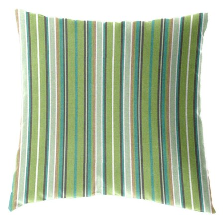 Cushion Source 17 x 17 in. Striped Sunbrella Indoor / Outdoor Throw Pillow ()