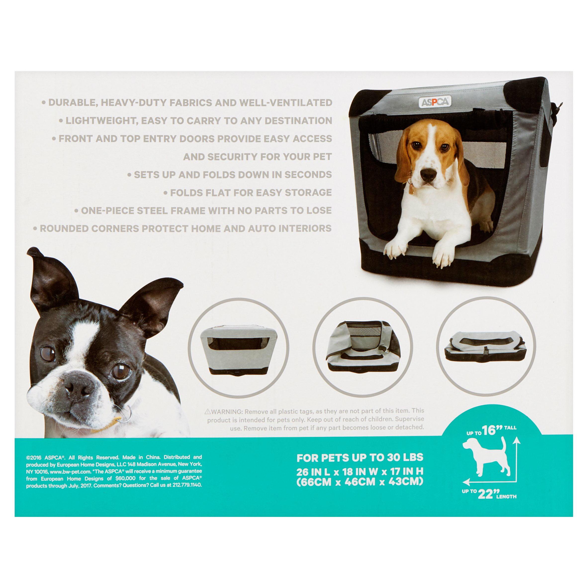 ASPCA Indoor/Outdoor Portable Soft Pet Crate