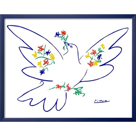 Dove of Peace Framed Art Print Wall Art  By Pablo Picasso - 29.5x23.5
