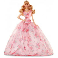Barbie Birthday Wishes Doll with Half Up Hairstyle & Pink Gown