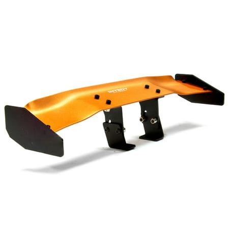Integy RC Toy Model Hop-ups C24896ORANGE Realistic 1/10 Size Aluminum Rear Wing 165mm