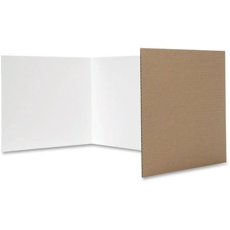 Flipside, FLP60005, White Tri-fold Study Carrel, 24 / Pack, White