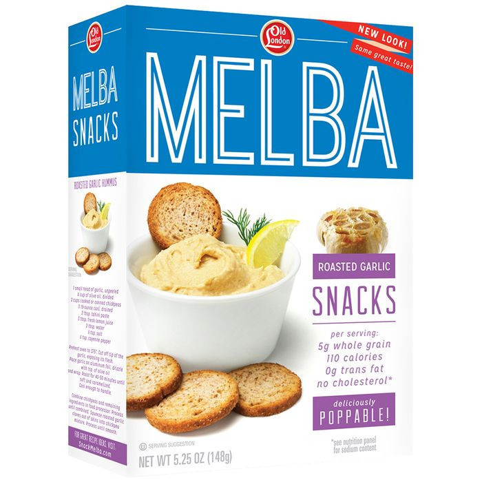 Old London® Melba Snacks Roasted Garlic 5.25 oz. Box