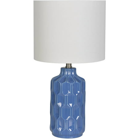 Better Homes And Gardens Blue Faceted Ceramic Table Lamp