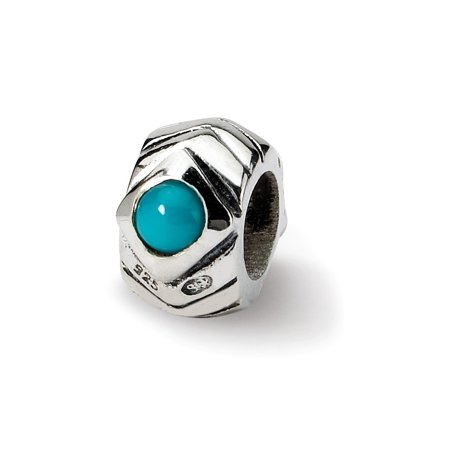 (ICE CARATS 925 Sterling Silver Charm For Bracelet Blue Turquoise Bead Stone Crystal Fine Jewelry Ideal Gifts For Women Gift Set From Heart)