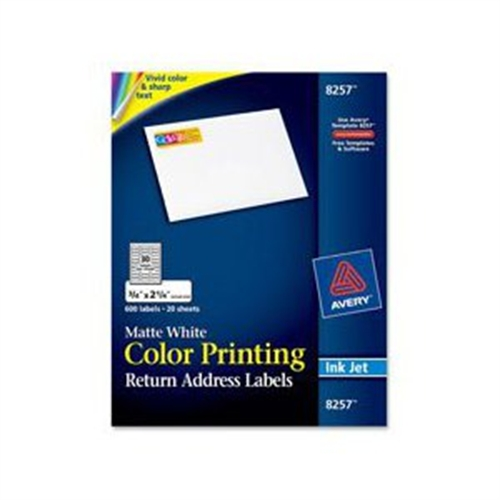 Avery Dennison Inkjet Labels for Color Printing, 2 x 4, Matte White, 200/Pack 08253