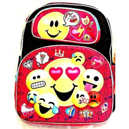 "New Emoji Boys & Girls 12"" 3D Embossed Backpack Book Bag"