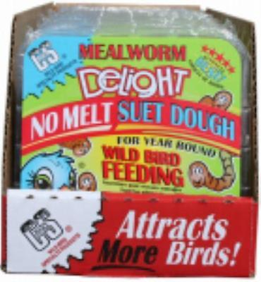 11.75 OZ Mealworm Delight No Melt Suet Dough Cake Only One by