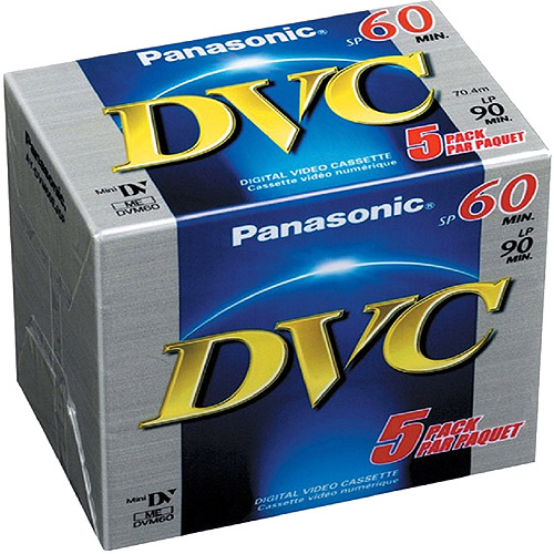 Panasonic DVM60 Mini DV Tape 5 Pack