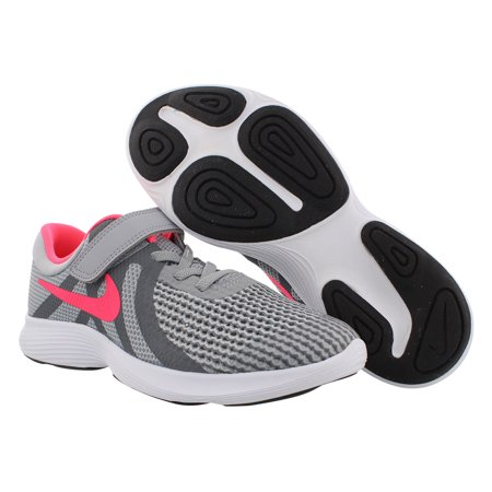 Nike Revolution 4 Girls Shoes Size 3, Color: Wolf Grey/Racer Pink/Cool White