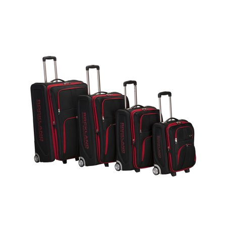 Rockland Luggage Varsity 4-Piece Softside Expandable Luggage - 29 Expandable Luggage