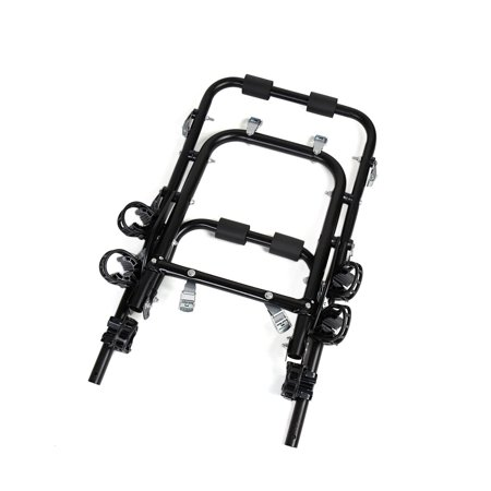 Aluminum Alloy Foldable Strap On Car Trunk Mounted 3 Bike Bicycle Rack Carrier - image 1 de 8
