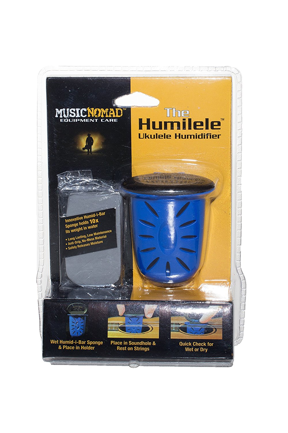 MN302 Humilele Ukulele Humidifier, Ukulele humidifier rests securely between strings and... by