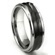 Titanium Kay Tungsten Carbide 8MM Wave Finish Comfort Fit Mens Wedding Band Ring Sz 10.0