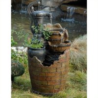 Jeco Glenville Water Pump Cascading Water Fountain