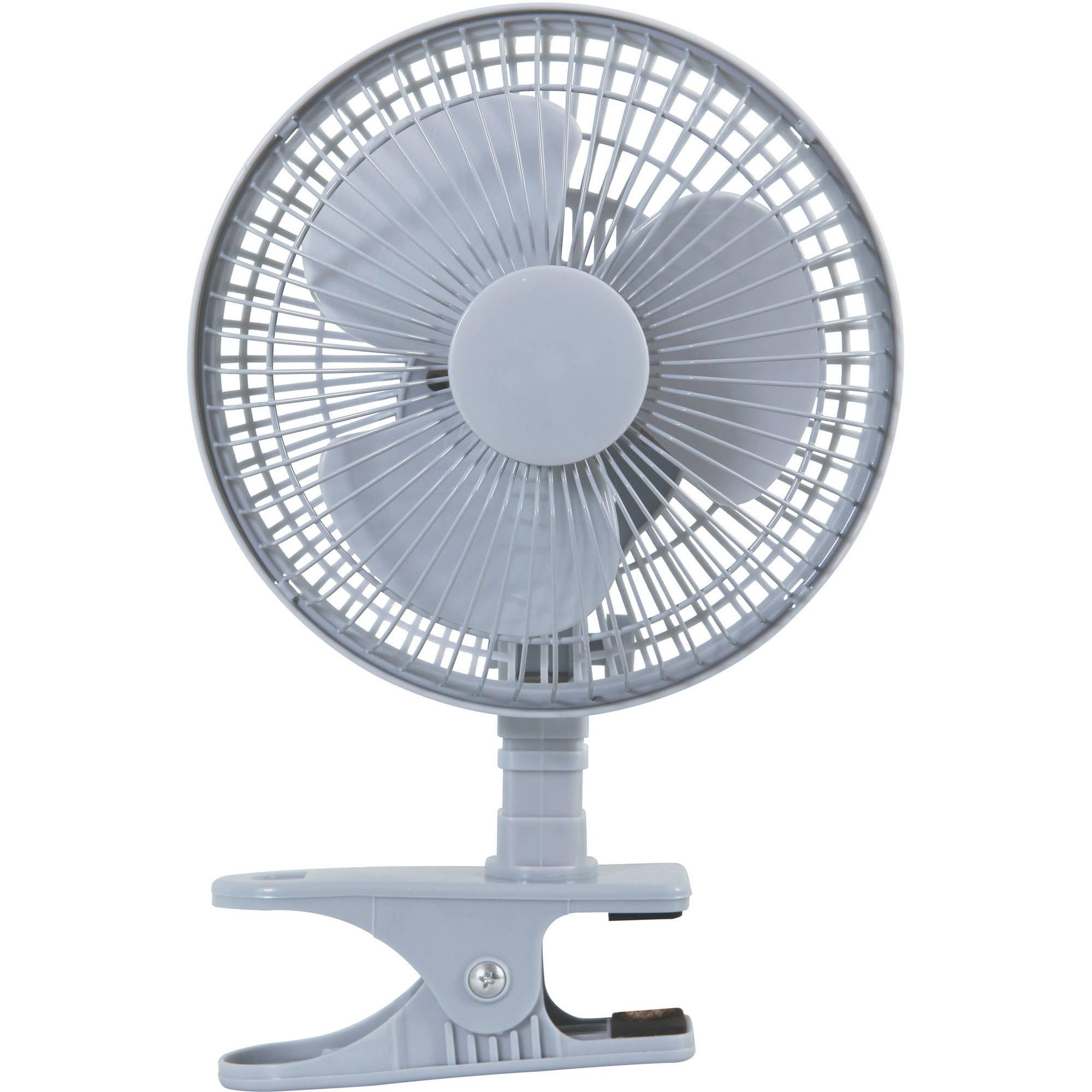 """Mast 6"""" Desk/Clip Fan, Silver"""